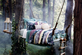 bed in tree --zenbedrooms