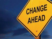 Change Ahead -- glass door