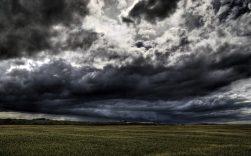 Dark Clouds over land