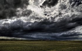 Dark Clouds over land