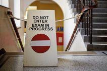 do-not-enter-exam-in-progress-sign-on-staircase