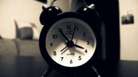 four o'clock -- alarm clock