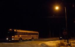 school bus in darkness -- 3