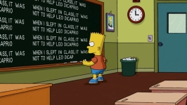 The.Simpsons-S22E01-When-I-slept-in-class-it-was-not-to-help-Leo-DiCaprio -- bartsblackboard