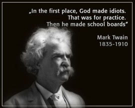 Twain on school boards -- by Sigurdur Jonsson