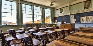 empty classroom -- huffpost