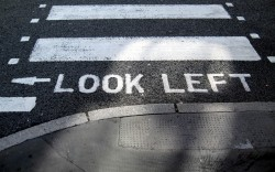 crosswalk -- look left