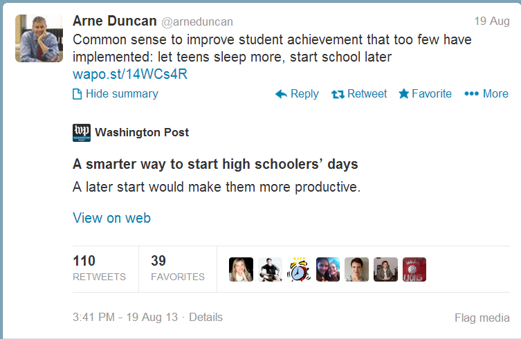 Notable Quotes The Impact Of School Start Times On Adolescent