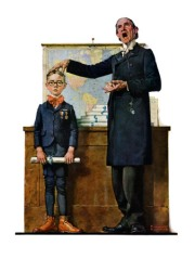 rockwell -- boy and teacher