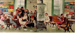 Norman Rockwell -- Visits a Country School