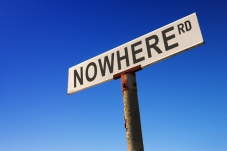 nowhere road sign